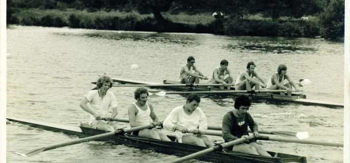 Photo of Professor Tierney Rowing