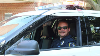 Officer Joe patrolling the campus | Photo Credit: Penn State Brandywine