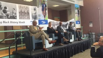Darrel Trent, Natalie Wells,  Barry Reddish, and Brother Zwadie Abdul Malik share experiences of campus life for them in the late 60s.